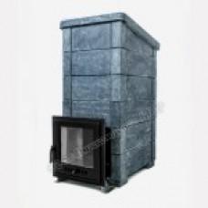 Печь Калита-Экстрим Рк чугунная дверца с панорамным стеклом змеевик