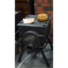 Печь Аот-6 тип 00 2 конфорки со стеклом Бренеран отопительная для дачи и дома