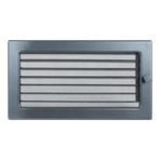 Решетка вентиляционная Каминная Жалюзи 17х30, графит (В)