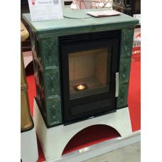 Печь-камин Abx Helvetia Kp (белый цоколь, вставка Комбо) для дома и дачи