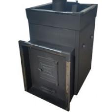 Печь банная Быстрица-30 с закрытой каменкой и встроенным теплообменником ТеплоСталь