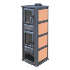 Печь-камин Tim Sistem (Тим Систем, Сербия) Lederata Plus оранжевая