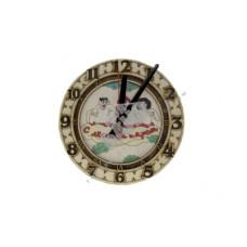 Чрц-1 Часы резные цветные Троица