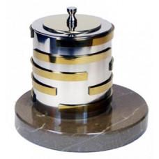 Биокамин Биотепло Биосвеча «Серебро» на мраморном основании 13