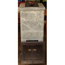 Сударушка Семейная Рк  талькохлорид чугунная дверь с панорманым стеклом без фасок  Инжкомцентр ВВД