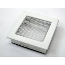 Решетка вентиляционная каминная 17х17, белый (В)