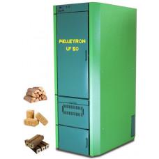 Автоматическая тепловая станция: отопление + Гвс для современного коттеджа Пеллетрон-Lf 50 (Pelletron)