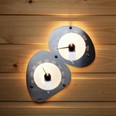 Светильник термометр-гигрометр Cariitti в сауну, баню