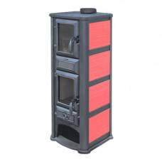 Печь-камин Tim Sistem (Тим Систем, Сербия) Lederata Plus красная