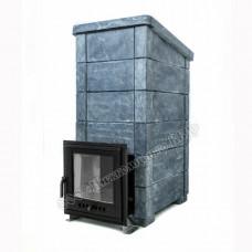 Печь Калита-Экстрим чугунная дверца с панорамным стеклом талькохлорит Инжкомцентр ВВД