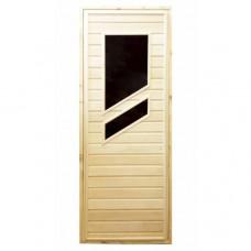 Дверь для бани и сауны с двумя стеклами (1)