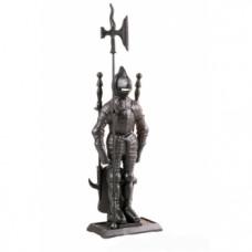 Каминный набор К3050b (рыцарь 4 предмета, черный)