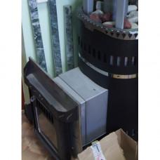 Печь Классика Телескоп с открытой каменкой Ферингер для русской бани (банная)