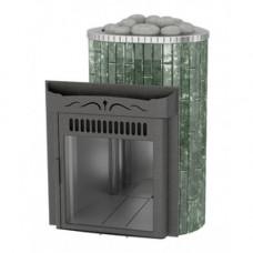 """Печь Ламель """"Maxi"""" в Змеевике Открытая каменка верх металл наборные ламели Ферингер"""