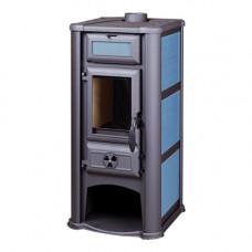 Печь-камин Lederata голубая