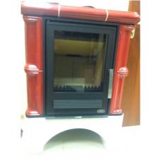 Печь-камин Iberia (прямой цоколь, вставка КОМБО) для дома и дачи
