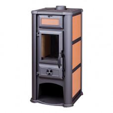 Печь-камин Lederata оранжевая
