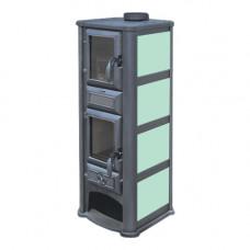 Печь-камин Lederata Plus зелёная