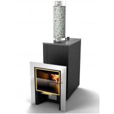 Банная печь КУТКИН «Премиум» 2,0 панорамное стекло