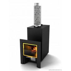 Банная печь - камин КУТКИН 2,0  для бани и сауны