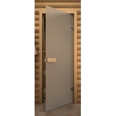 Стеклянные двери для бани и сауны Серия «Linden» Б/ц матовое