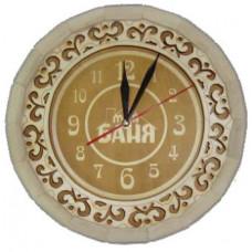 Часы Бочонок резные Моя баня (темные) ЧБ-РТ