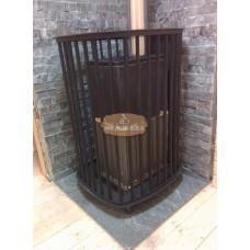 Печь Сударушка Руса чугунный портал с чугунной дверью