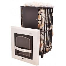 Печь Сударушка Руса стальная окрашенная дверца со стеклом Инжкомцентр для русской бани (банная) купить по отличным ценам