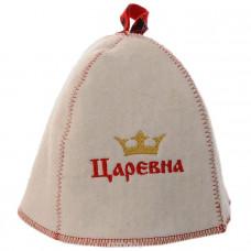 """Шапка для сауны вышивка """"Царевна"""" Б41001(Е)"""