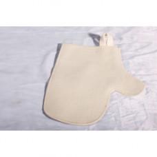 Рукавица для сауны белая (ЭС)