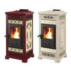 Пеллетная печь-камин Castelmonte Marilyn Pellet Canalizzata  для дома и дачи